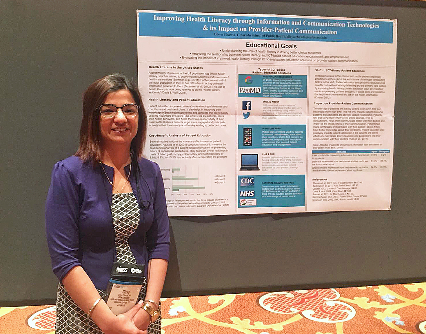 f79908f4182 Before Divya Chawla presented a poster at the recent Healthcare Information  and Management Systems Society (HIMSS) conference in Las Vegas
