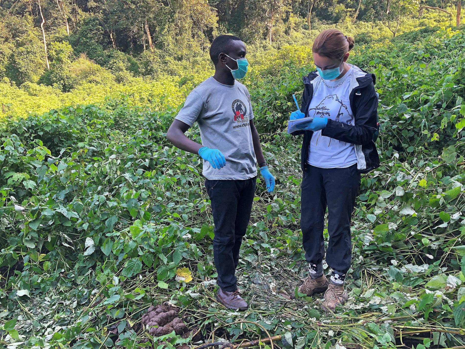 Isabella Mazariegos, right, working in Uganda